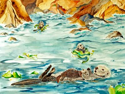 Sea Otters in the Bay