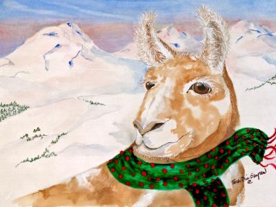 Christmas Llama and the Three Sisters
