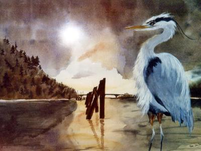 Columbia River Dock Heron