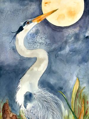 Blue Moon Heron